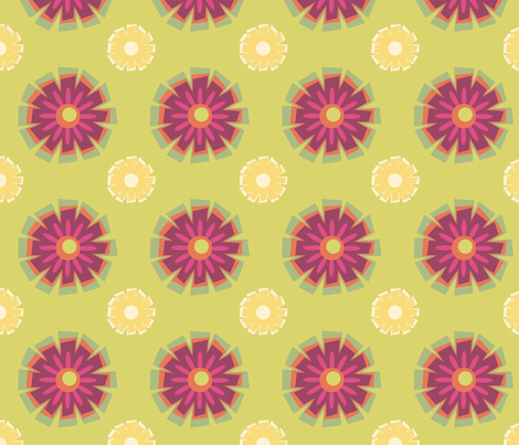 Burg_Yllw_LimeBkgd4in fabric by leonajaeger on Spoonflower - custom fabric