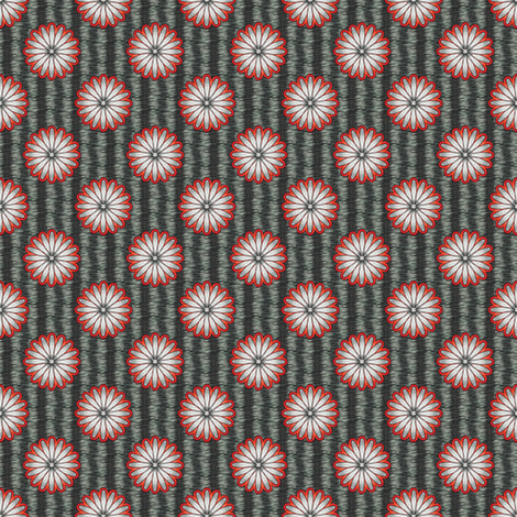 Chiral's Daisies- Charcoal fabric by siya on Spoonflower - custom fabric