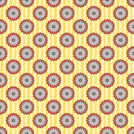 Chiral's Daisies - Sunny fabric by siya on Spoonflower - custom fabric
