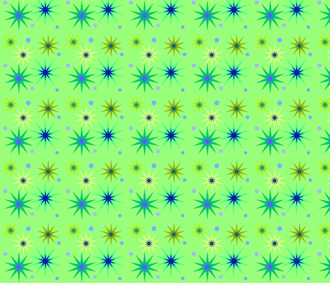 Greeny stars fabric by vidaliah on Spoonflower - custom fabric