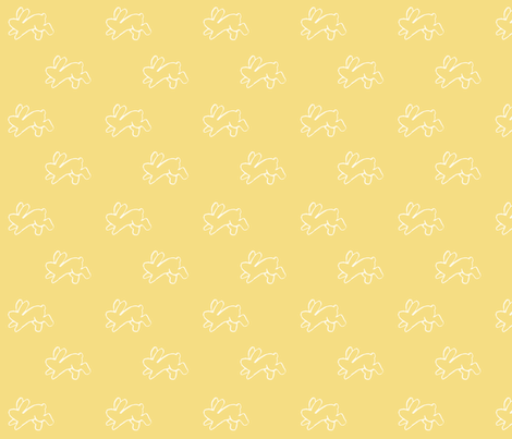 yellow_bouncing bunnies fabric by cherryandcinnamon on Spoonflower - custom fabric