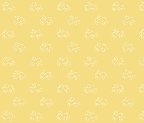 yellow_bouncing bunnies fabric by cherryandcinnamon on Spoonflower - custom fabric