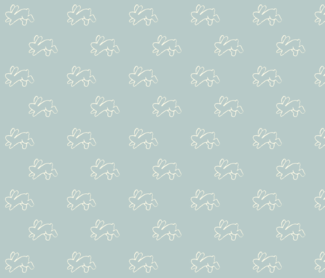 blue_bouncing bunnies fabric by cherryandcinnamon on Spoonflower - custom fabric