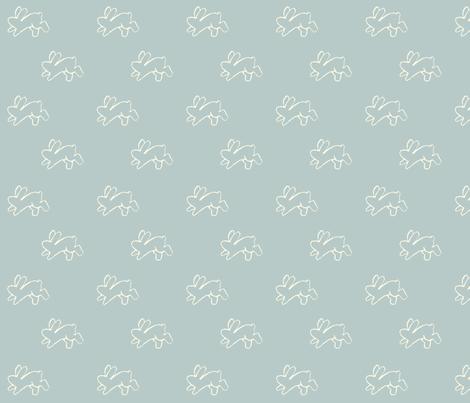 blue_bouncing bunnies fabric by cherryandcinnamon on Spoonflower - custom fabric