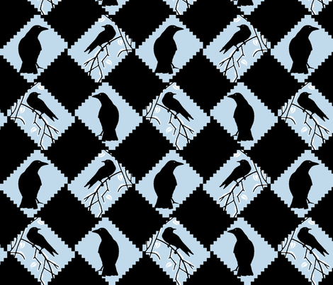 Blackbird fabric by kdl on Spoonflower - custom fabric