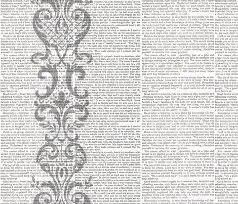 Typewriter Stories fabric by peagreengirl on Spoonflower - custom fabric