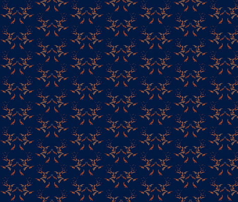 Koi in Deep Blue fabric by robin_rice on Spoonflower - custom fabric