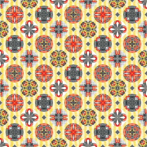 Chiral's Seals - Sunny fabric by siya on Spoonflower - custom fabric