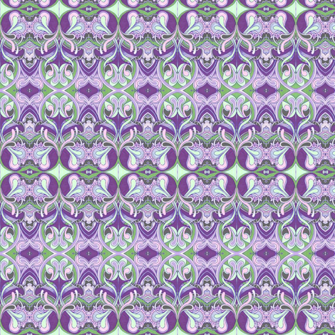 Honeysuckle nouveau violet fabric by edsel2084 on Spoonflower - custom fabric
