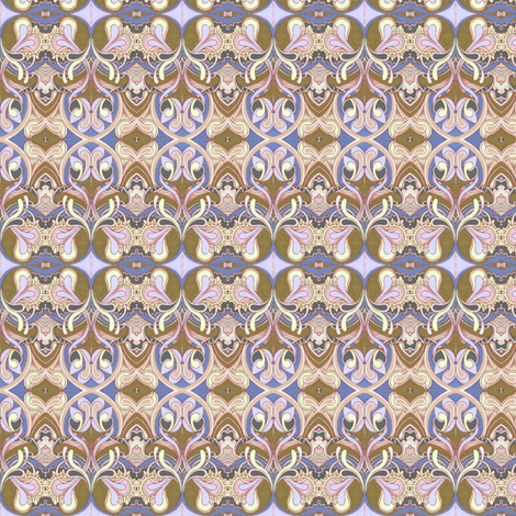 Honeysuckle nouveau coffee fabric by edsel2084 on Spoonflower - custom fabric