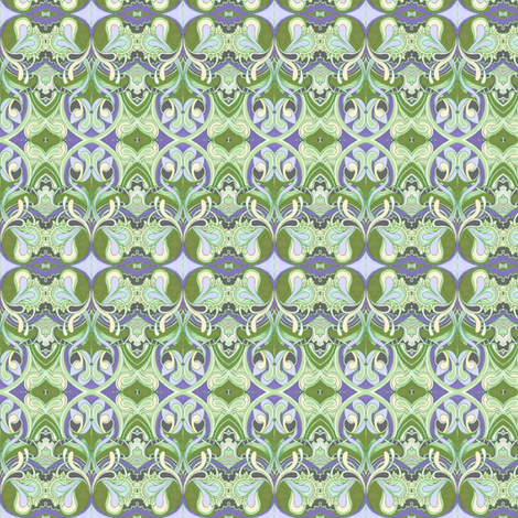 Honeysuckle nouveau fabric by edsel2084 on Spoonflower - custom fabric
