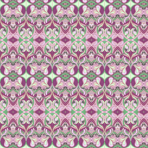 Honeysuckle nouveau magenta fabric by edsel2084 on Spoonflower - custom fabric