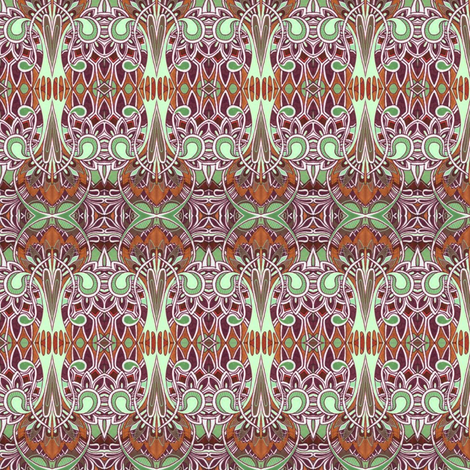 Egyptian deco revival fabric by edsel2084 on Spoonflower - custom fabric