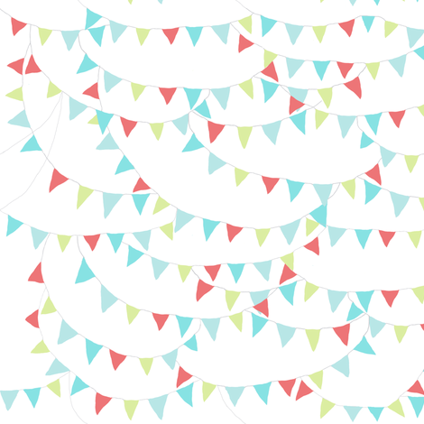 bunting fabric by katarina on Spoonflower - custom fabric