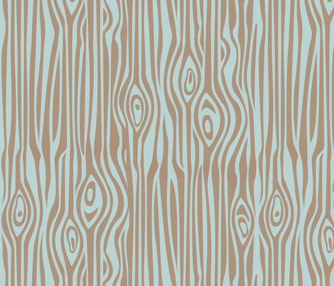 Mod Grain - Brown on Blue fabric by thirdhalfstudios on Spoonflower - custom fabric