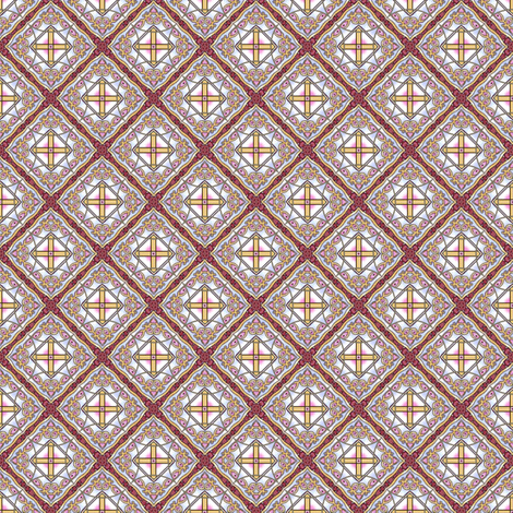 Ponpondi's Diamonds fabric by siya on Spoonflower - custom fabric