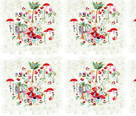 petit_chaperon_rouge_2 fabric by nadja_petremand on Spoonflower - custom fabric