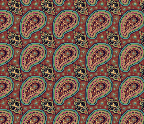 EleBoo Paisley fabric by elephant_booty_studio on Spoonflower - custom fabric