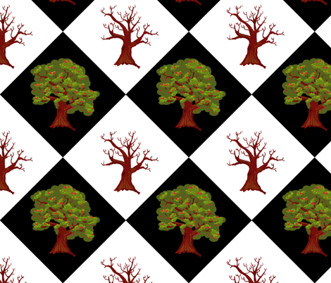 The Fragrant Tree fabric by pond_ripple on Spoonflower - custom fabric