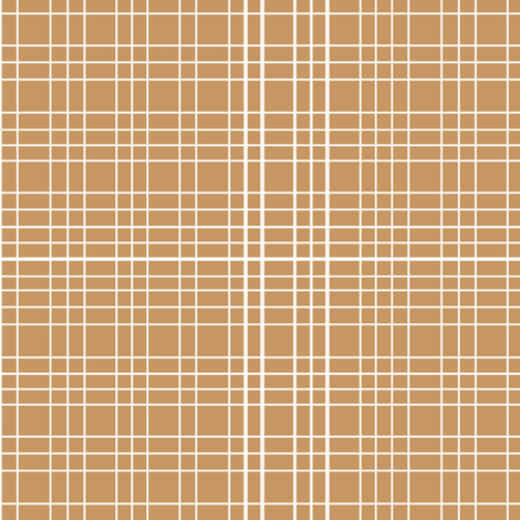 Latte Grid fabric by tradewind_creative on Spoonflower - custom fabric