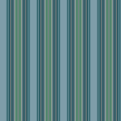 Blue Green Stripes fabric by gingezel on Spoonflower - custom fabric