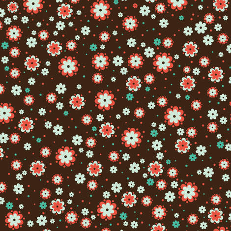 Flowers fabric by mandakay on Spoonflower - custom fabric