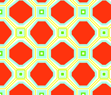 Retro Feel Lattice fabric by dolphinandcondor on Spoonflower - custom fabric