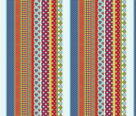 rayure_vintage_S fabric by nadja_petremand on Spoonflower - custom fabric