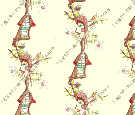 a poem as lovely as a tree fabric by tairyland on Spoonflower - custom fabric