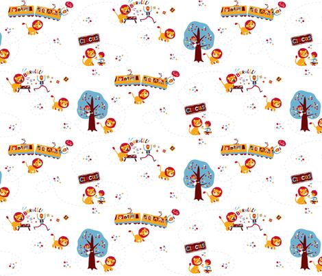 De leeuw is los! (The lion is loose!) fabric by irrimiri on Spoonflower - custom fabric