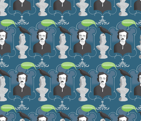 Nevermore fabric by nomenclature on Spoonflower - custom fabric
