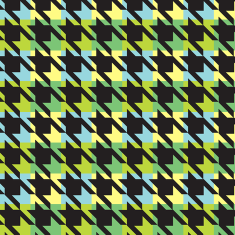 Houndstooth fabric by thornbirds on Spoonflower - custom fabric