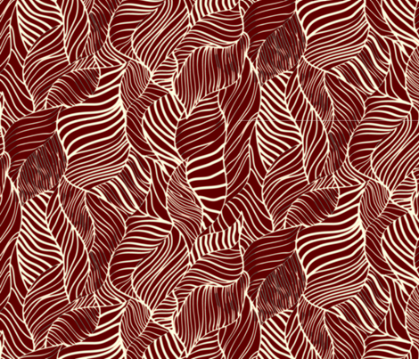 Lined Leaves fabric by thornbirds on Spoonflower - custom fabric