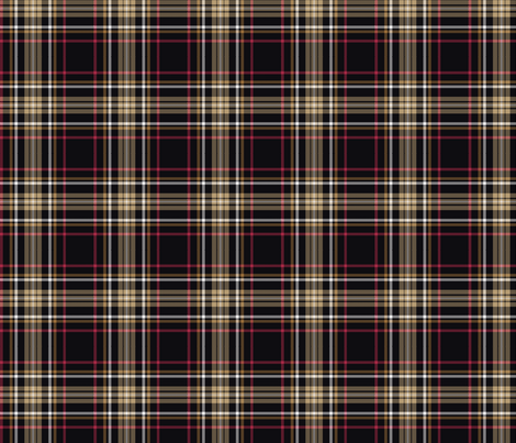 Plaid with black ground fabric by thornbirds on Spoonflower - custom fabric