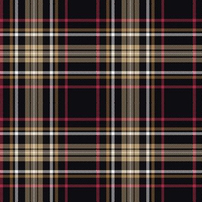 Plaid with black ground