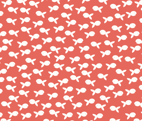 little fishy fabric by mondaland on Spoonflower - custom fabric