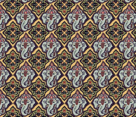 EleBoo Ganesh soft edges fabric by elephant_booty_studio on Spoonflower - custom fabric
