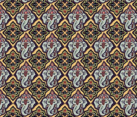 EleBoo Ganesh soft edges fabric by elephant_booty_studio on Spoonflower - custom fabric