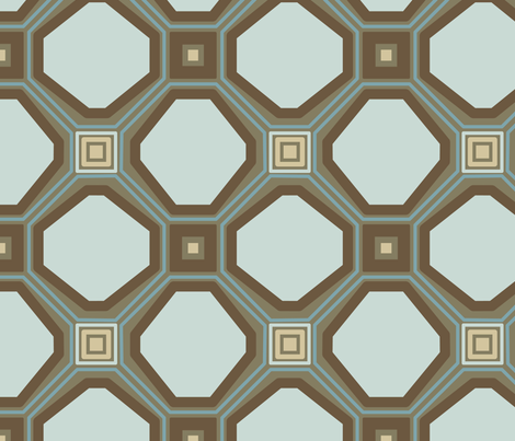 Retro Feel Lattice in Overcast fabric by dolphinandcondor on Spoonflower - custom fabric