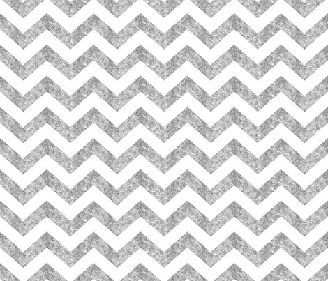 Glitter Chevron Silver fabric by cynthiafrenette on Spoonflower - custom fabric
