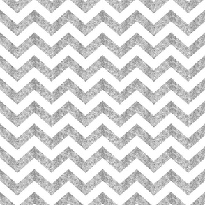 Glitter Chevron Silver
