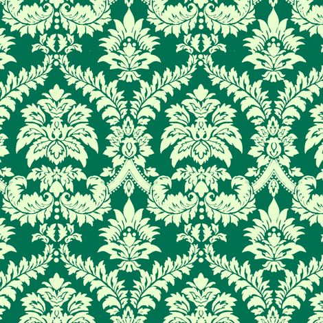 Seamless_Scroll_Wallpaper fabric by thornbirds on Spoonflower - custom fabric