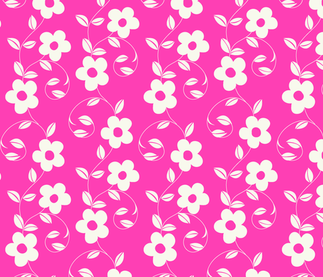 swirly_floral fabric by thornbirds on Spoonflower - custom fabric