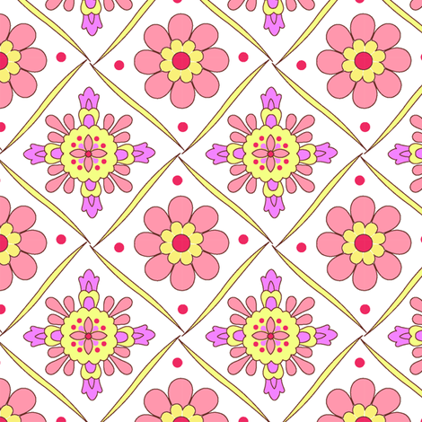 Diamond_Flower fabric by thornbirds on Spoonflower - custom fabric