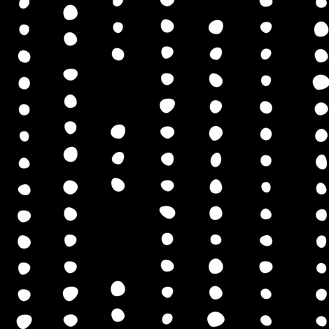 Spanish_Dots_BLACKWHITE fabric by fuzzyskyfabric on Spoonflower - custom fabric