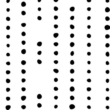 Spanish_Dots_WHITEBLACK fabric by fuzzyskyfabric on Spoonflower - custom fabric