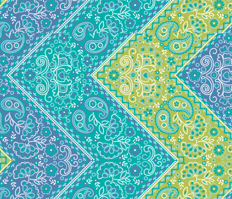 DiagonalDottedPaisley fabric by thornbirds on Spoonflower - custom fabric