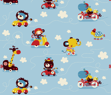collection-riding fabric by bora on Spoonflower - custom fabric