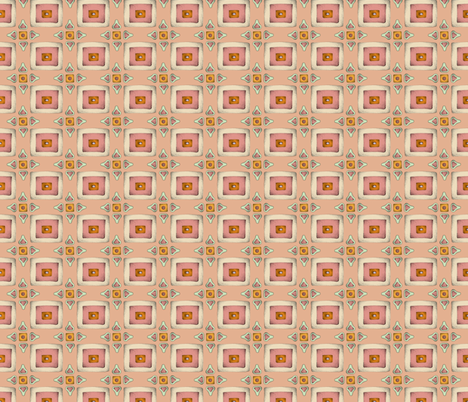 Vintage Peach fabric by mobuedinger on Spoonflower - custom fabric