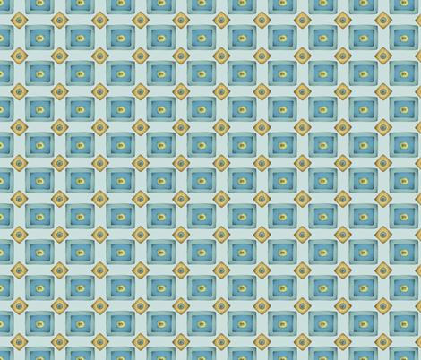 Retro_tuerkis fabric by mobuedinger on Spoonflower - custom fabric